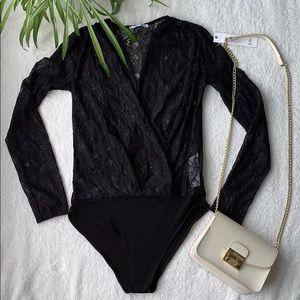 NWOT 🌸 ZARA sexy black lace bodysuit 🌸